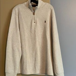 Men's Polo quarter zip sweater